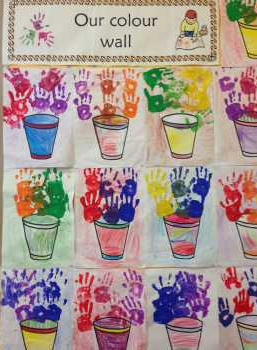Ms Guilfoyles's Room Junior and Senior Infants Our Colour wall