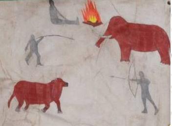 "Ms Blakes Room ""Cave Paintings"""